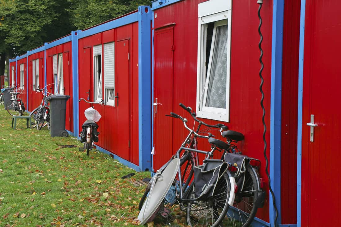 Shipping containers used as an affordable holiday park solution